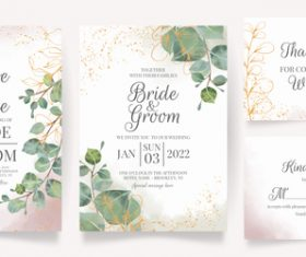 Different design templates wedding invitation vector