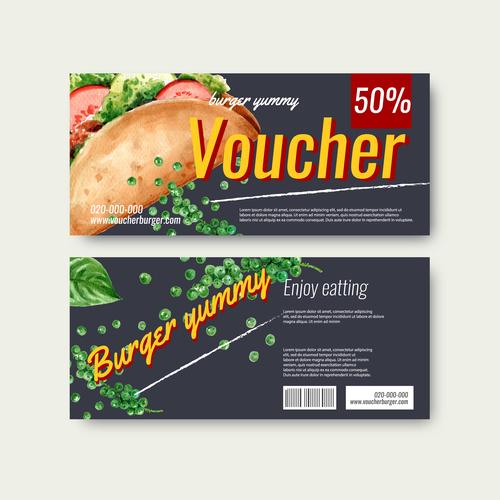 Discount food roll vector
