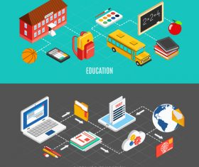 Distance education vector
