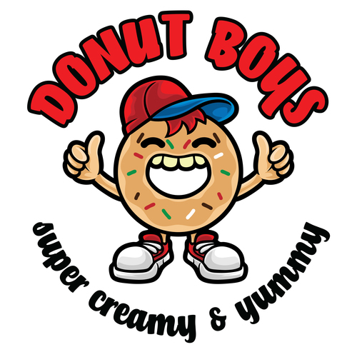 Donut bous icon vector