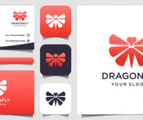 Dragonfly logo and business card design