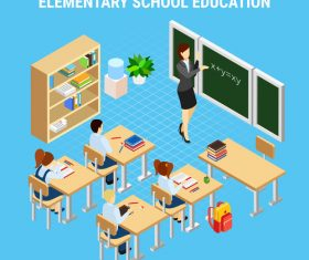 Elementary school education vector