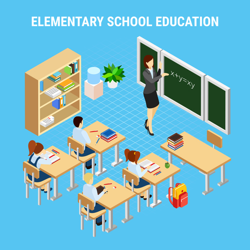 Elementary school education vector