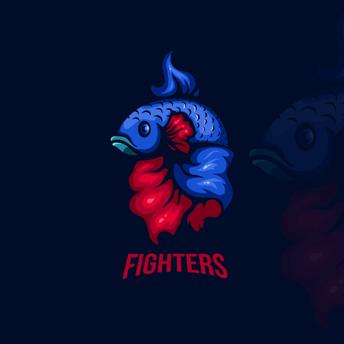 Emblem gaming fighters vector