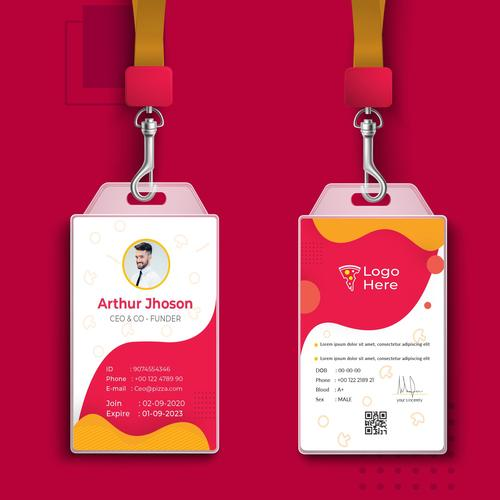 Employee badge template vector