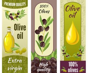 Erect olive product banner vector