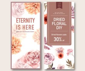 Eternity is here dried floral banner vector