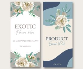 Exotic flower here banner vector