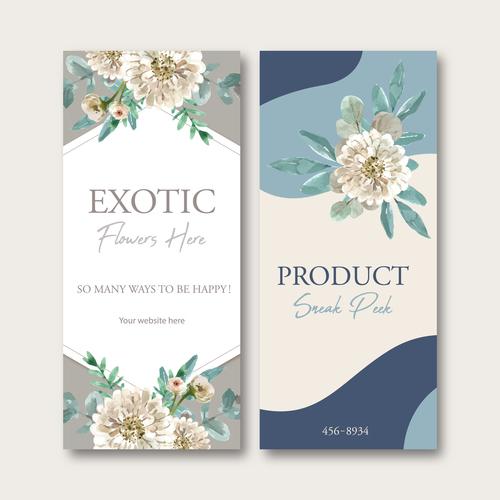 Exotic flower here banner vector
