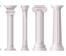 Exquisite stone pillar vector