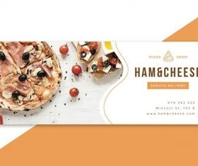 Facebook food restaurant cover design vector