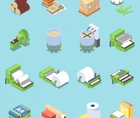 Factory Isometric Illustration Vector