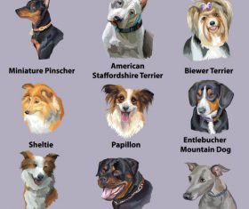 Famous dog name vector
