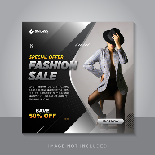 Fashion clothing special sale vector