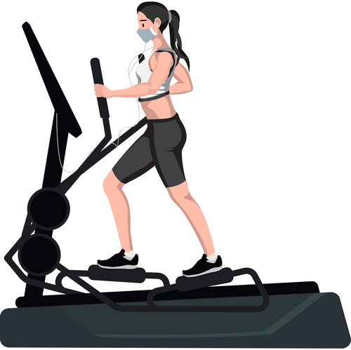Fashion fitness women vector