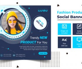 Fashion product social banner vector