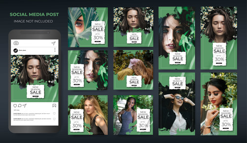Fashion women social media post vector