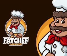 Fat chef vector