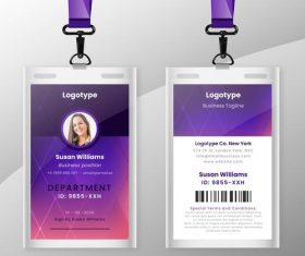 Female identification document stationery vector