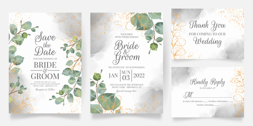 Floral frame wedding invitation vector