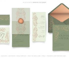 Flower background wedding invitation vector