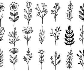 Flower line vector