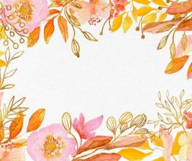 Flower watercolor background vector