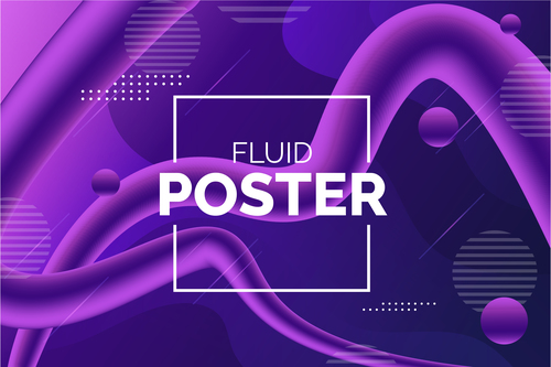 Fluid poster background abstract vector