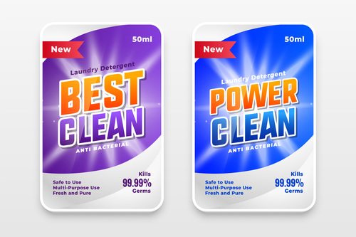 For super cleaning and disinfectants label vector
