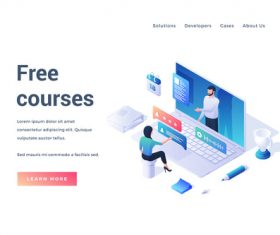 Free courses illustration vector