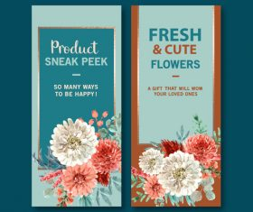 Fresh and cute flower cover banner vector