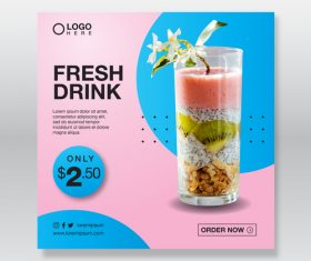 Fresh drink cover vector
