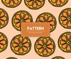 Fruit decorative seamless pattern background vector