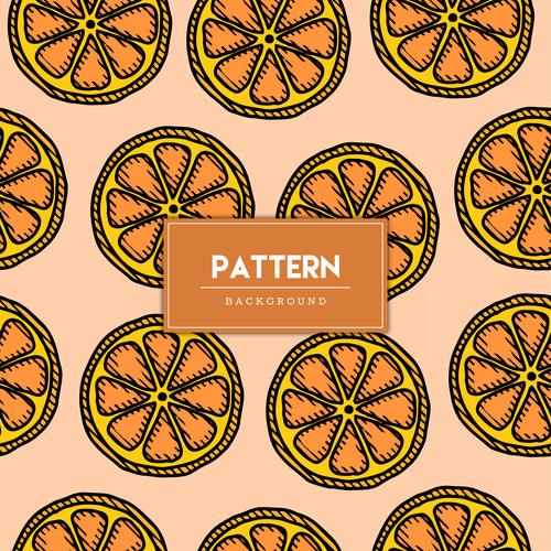 Fruit decorative seamless pattern background vector