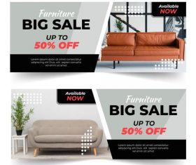 Furniture sale vector