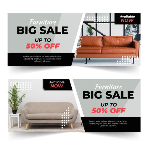 Furniture sale vector