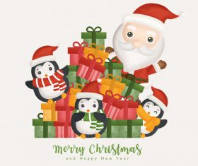 Gift christmas background vector