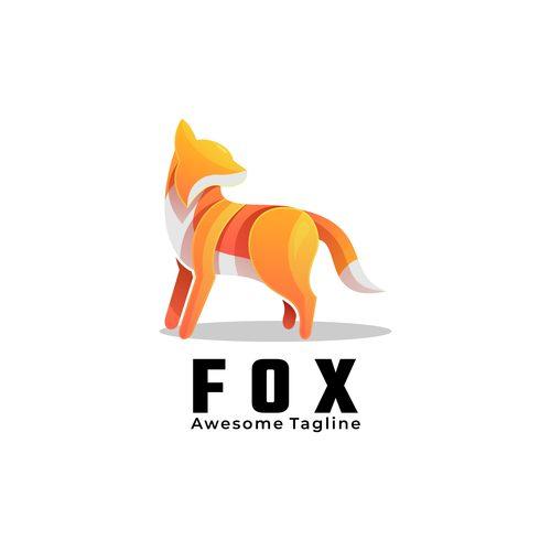 Golden fox icon vector