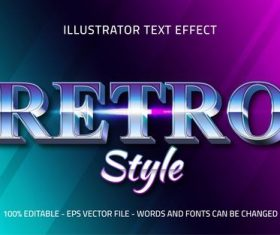 Gradient editable font effect text vector