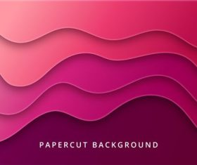 Gradient paper cut geometric shapes abstract background vector