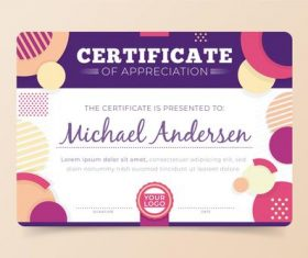 Graduation certificate template vector