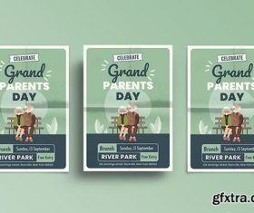 Grandparents Day Flyer Template vector