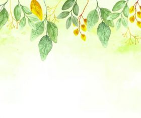 Green and yellow leaf background vector
