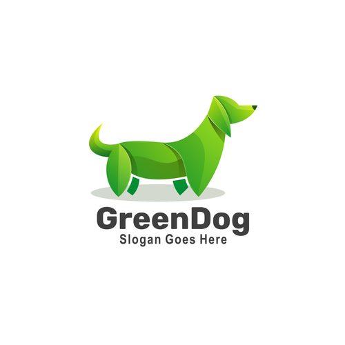 Green dog icon vector