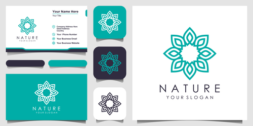 Green nature logo and business card design