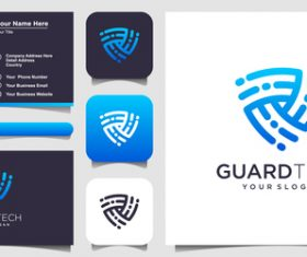 Guard tech logo and business card design