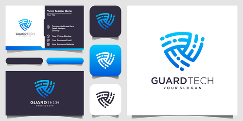 Guard tech logo and business card design