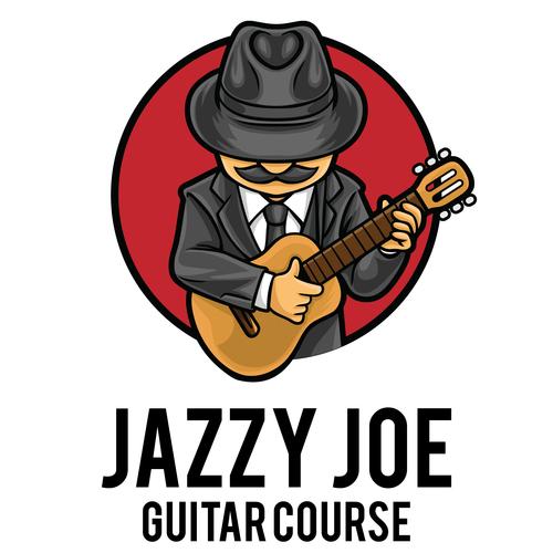 Guitar course icon vector