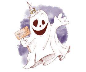 Halloween dress up watercolor illustration vector