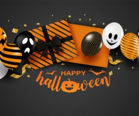 Halloween gift background vector